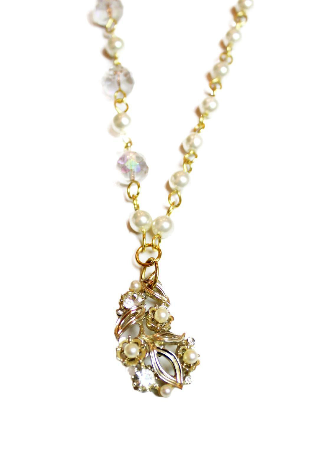 Carte Blanche Art Deco Style Necklace - Front Full Image