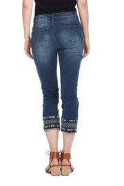 Cartise Aztec Embroidered Jeans - Front full body