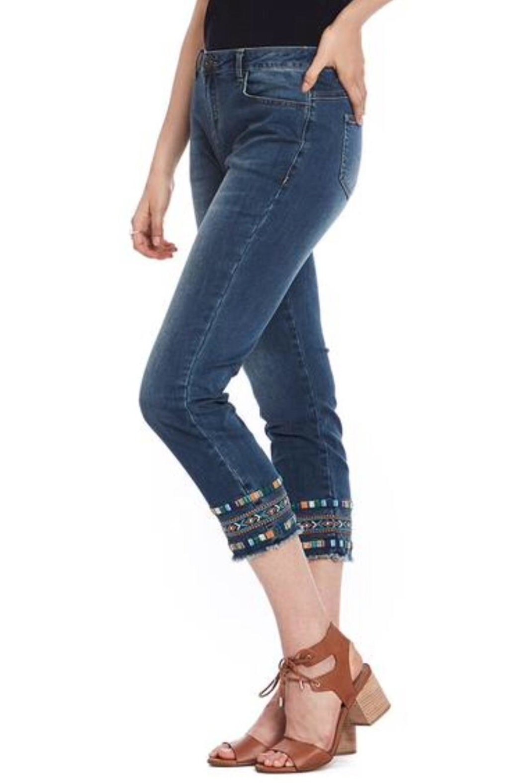 Cartise Aztec Embroidered Jeans - Main Image