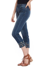 Cartise Aztec Embroidered Jeans - Product Mini Image