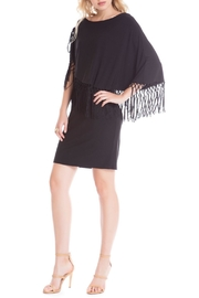 Cartise Black Fringe Dress - Product Mini Image