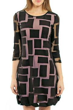 Shoptiques Product: Dress With Sheer Overlay