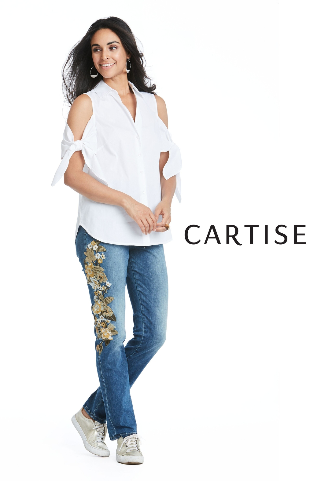 Cartise Embroidered Straightleg Jeans - Main Image