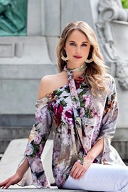 Cartise Flowy Floral Top - Product Mini Image