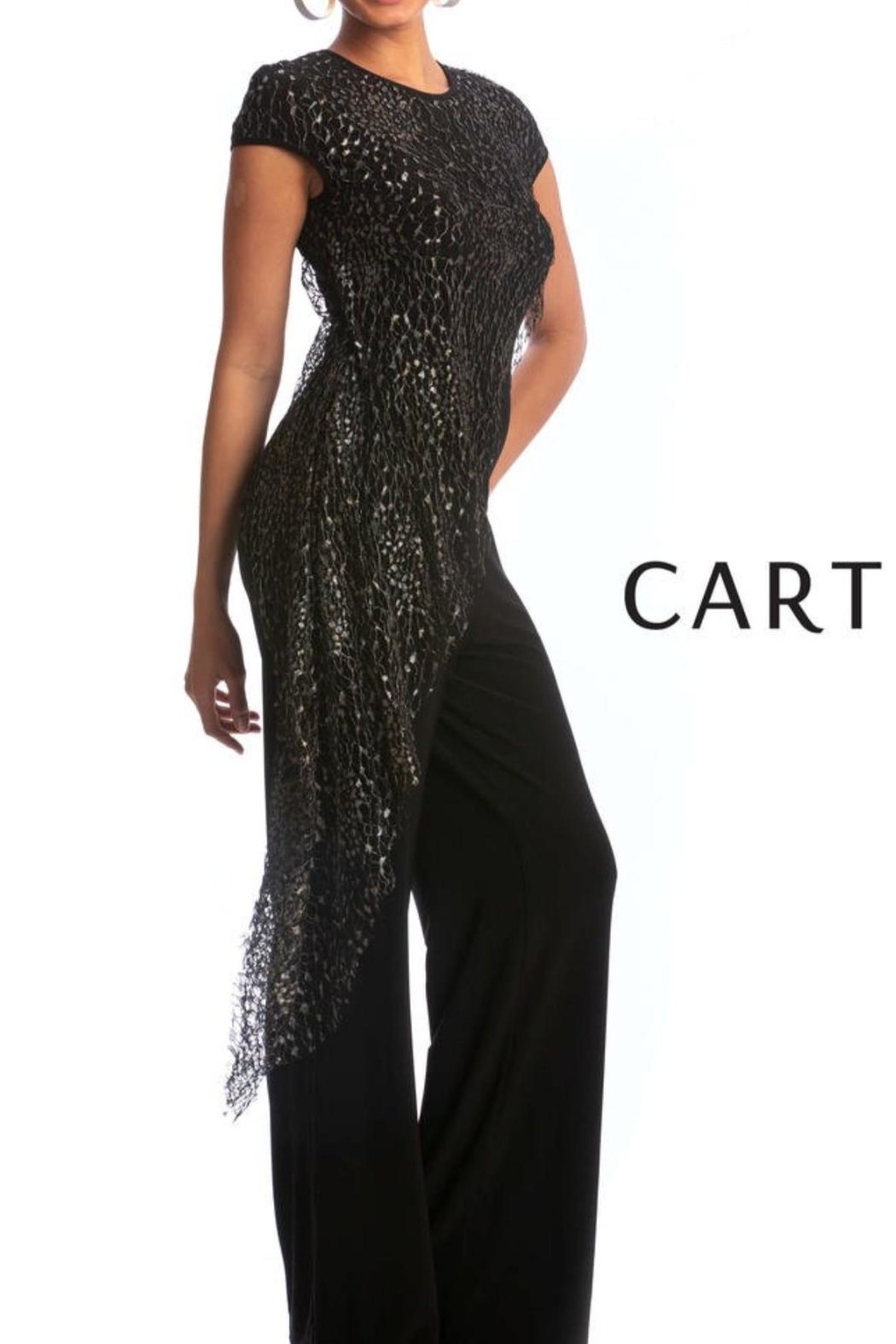 Cartise Gold Overlay Jumpsuit - Main Image