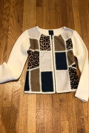 Cartise Patchwork Leopard Cardigan - Front cropped
