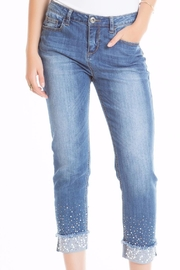 Cartise Pearl Hem Jean - Product Mini Image