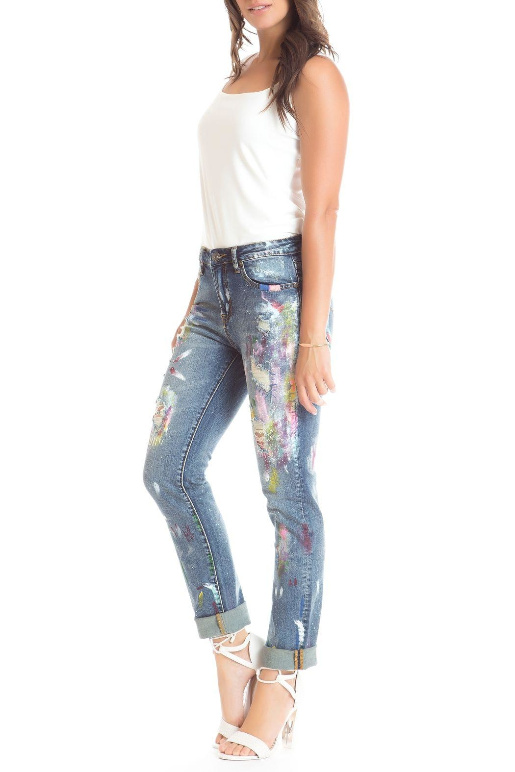 Cartise Skinny Painted Jeans From Canada By Via Monte