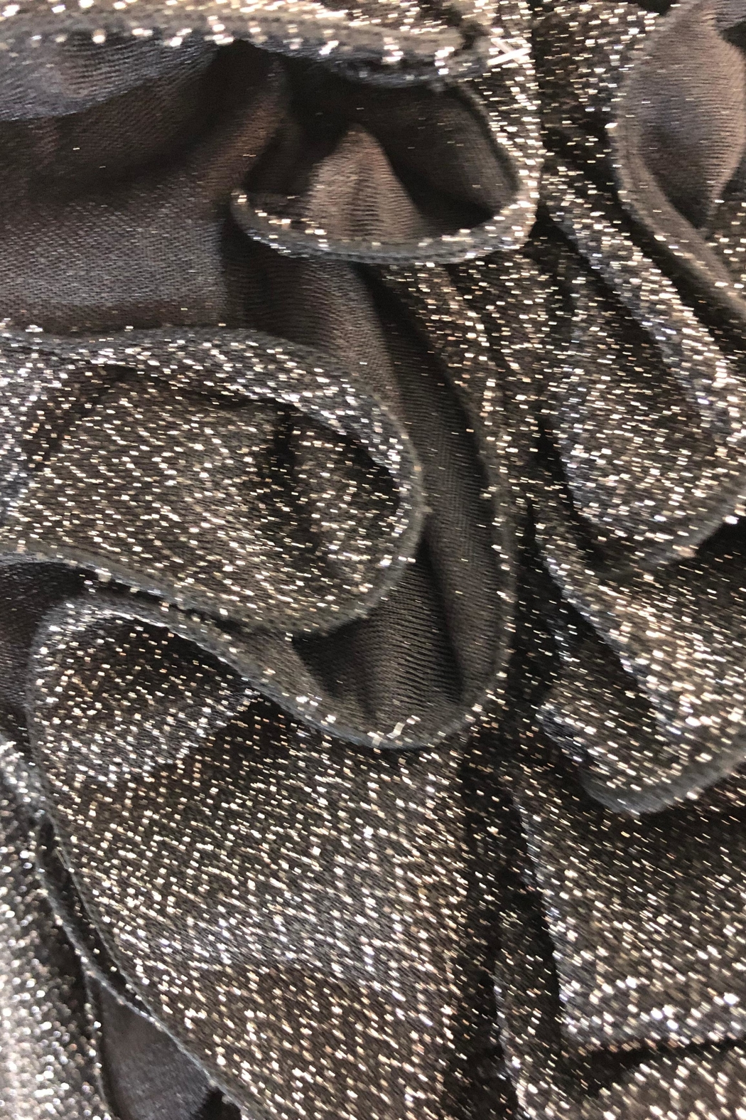 Cartise Sparkle Ruffle Top - Front Full Image