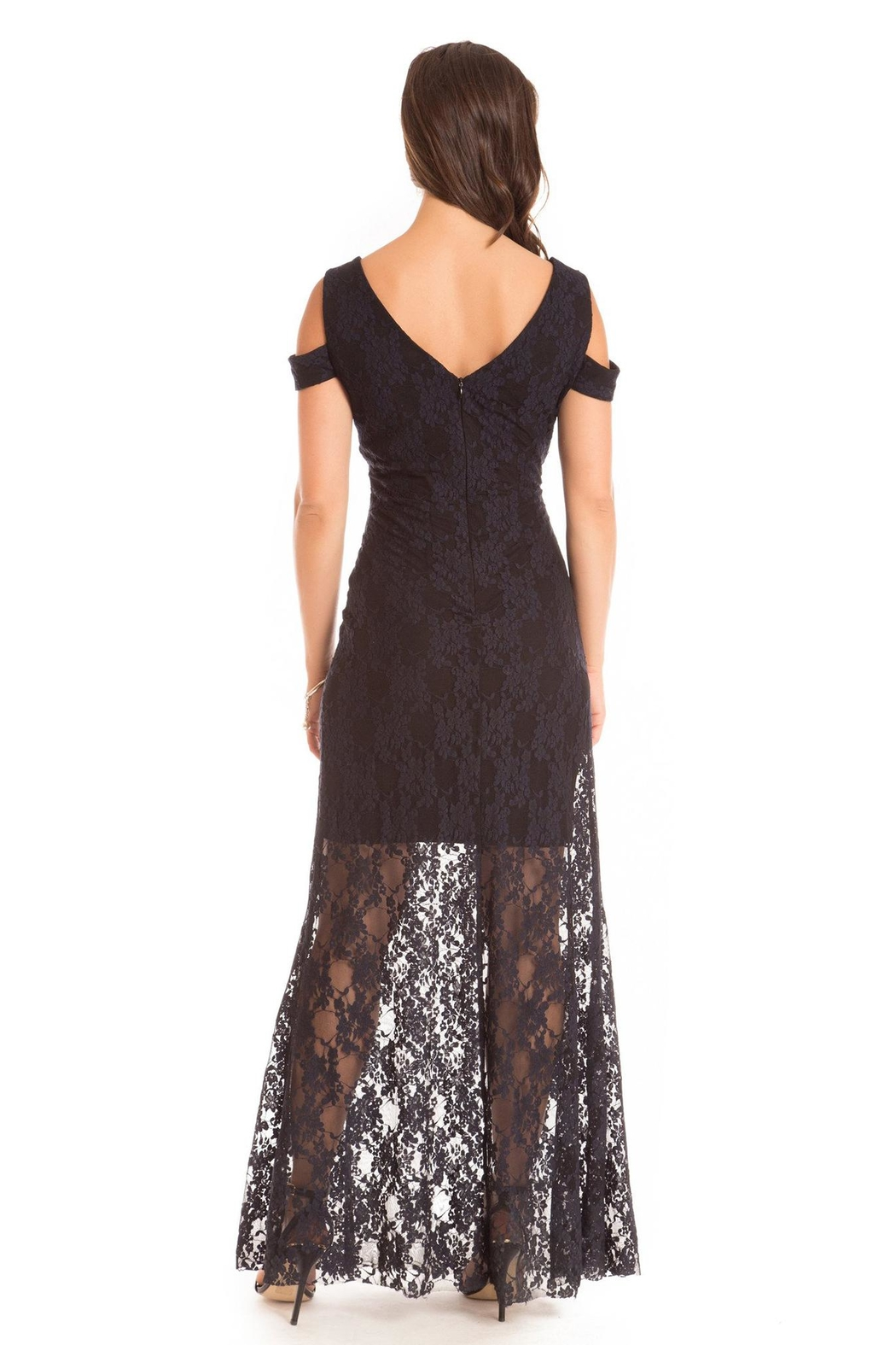 Cartise Stretch Lace Gown - Front Full Image