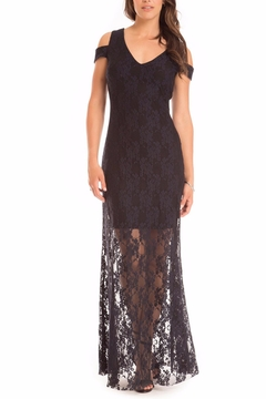Cartise Stretch Lace Gown - Product List Image