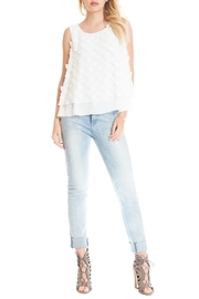 Cartise White Petal Top - Front cropped