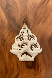 handmade  Carved Bone Pendant - Product Mini Image