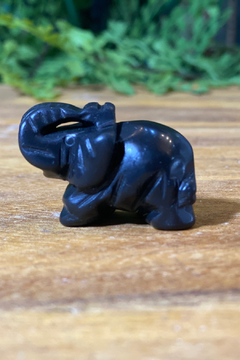 Shoptiques Product: Carved Crystal Elephant