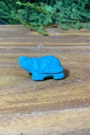 The Birch Tree Carved Stone Turtle - Front cropped