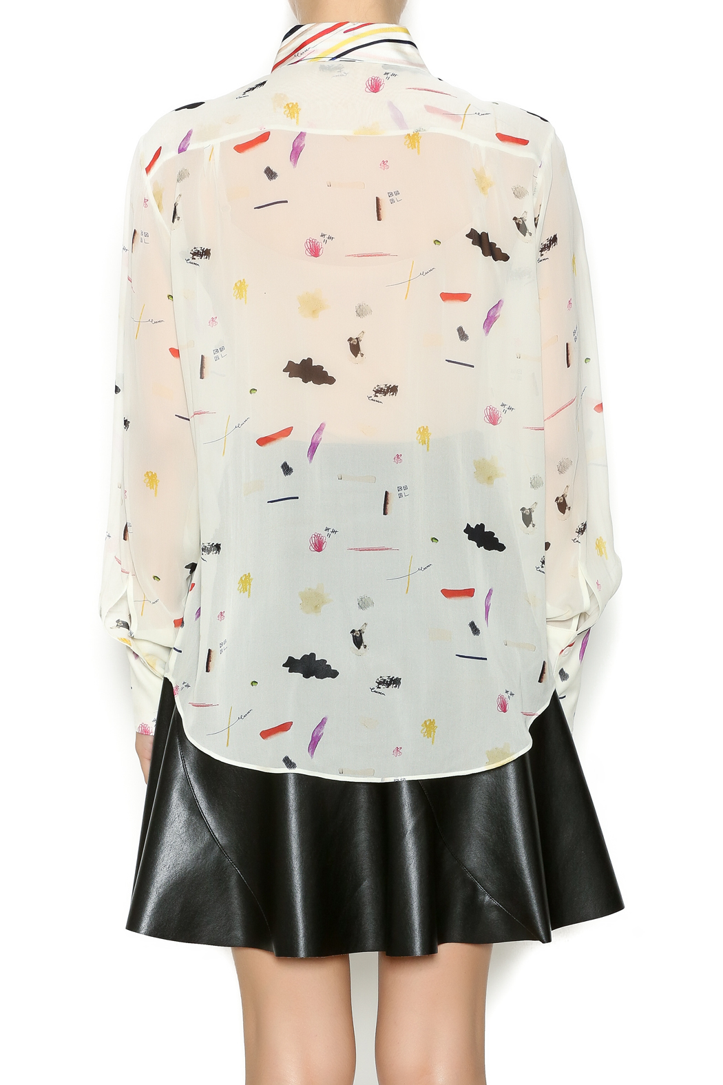 Carven Printed Silk Blouse 79