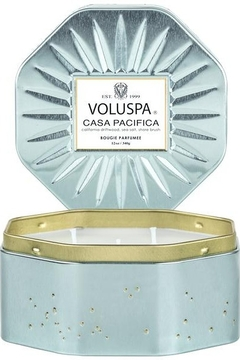 Voluspa Casa Pacifica 3 Wick Octagon Tin - Alternate List Image