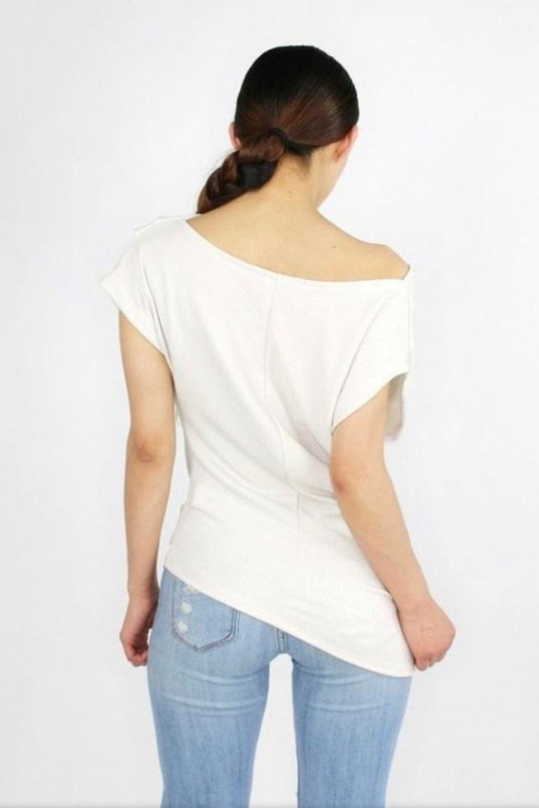 Casa Lee  One Shoulder Top - Front Full Image