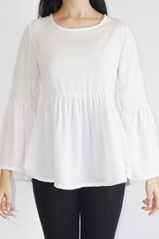 Casa Lee  White Chiffon Top - Product Mini Image