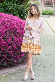 Band Of Gypsies Casablanca Floral Bell Sleeve Mini Dress - Product Mini Image