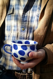 Casafina Polka Dot Mug - Front full body