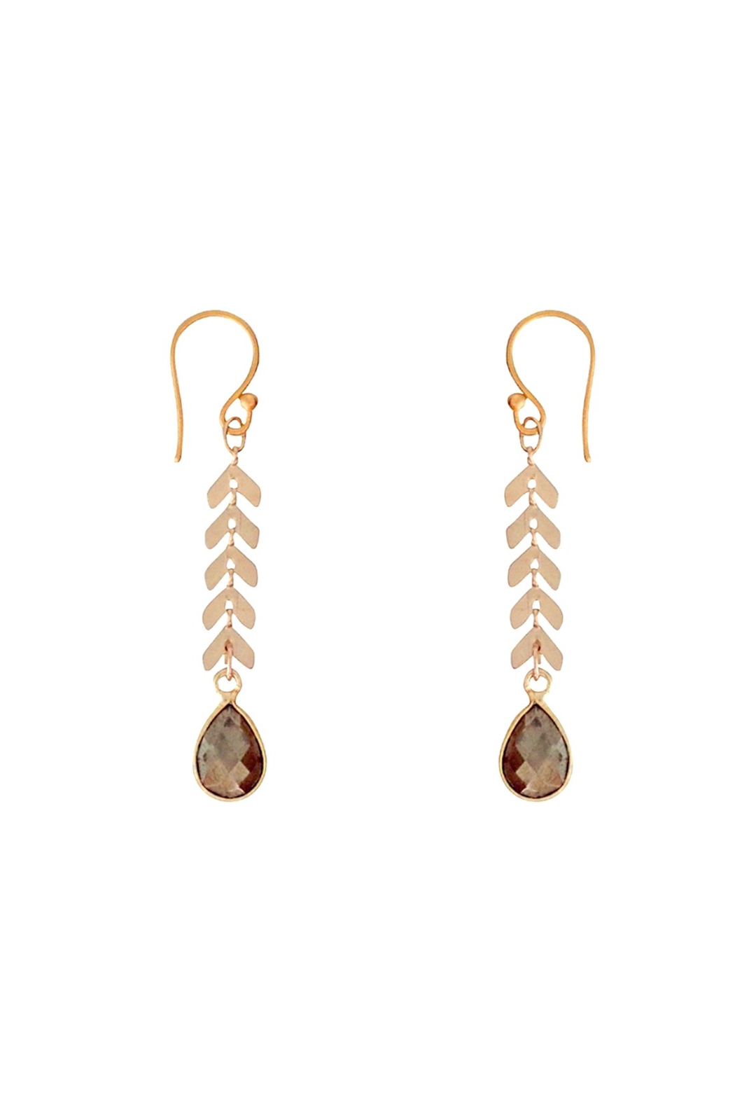 Bronwen Cascade Drop Pyrite Earrings - Main Image