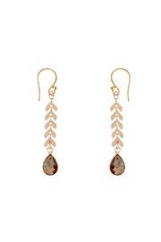Bronwen Cascade Drop Pyrite Earrings - Front cropped