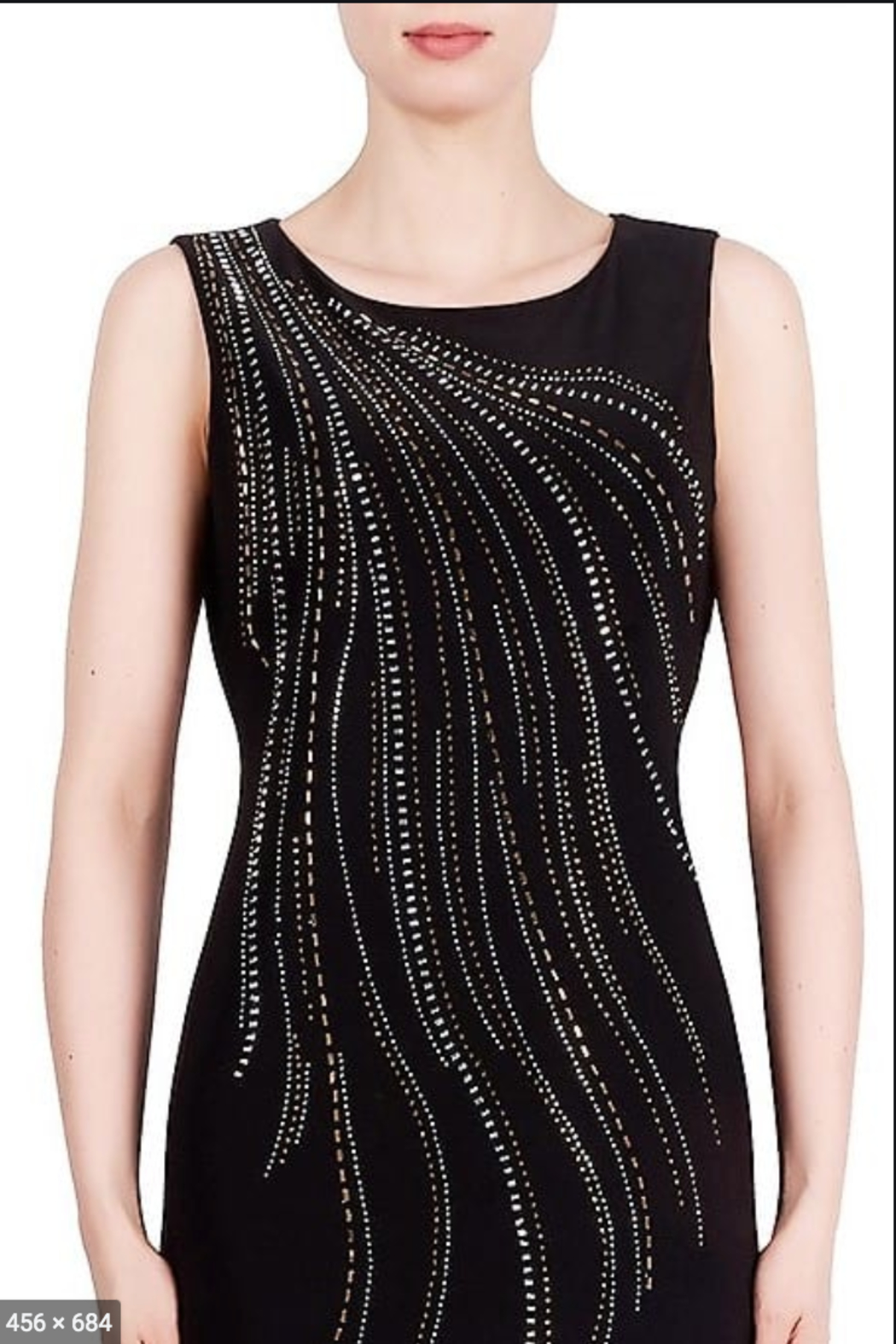Joseph Ribkoff  Cascade of Sparkle Dress - Front Cropped Image