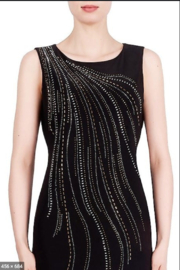 Joseph Ribkoff  Cascade of Sparkle Dress - Front cropped