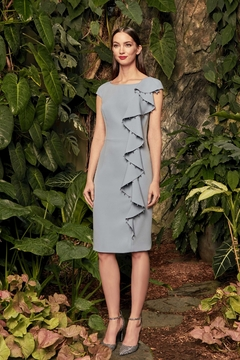 Daymor Cascade Ruffles Dress, Apple or Glacier Blue - Product List Image