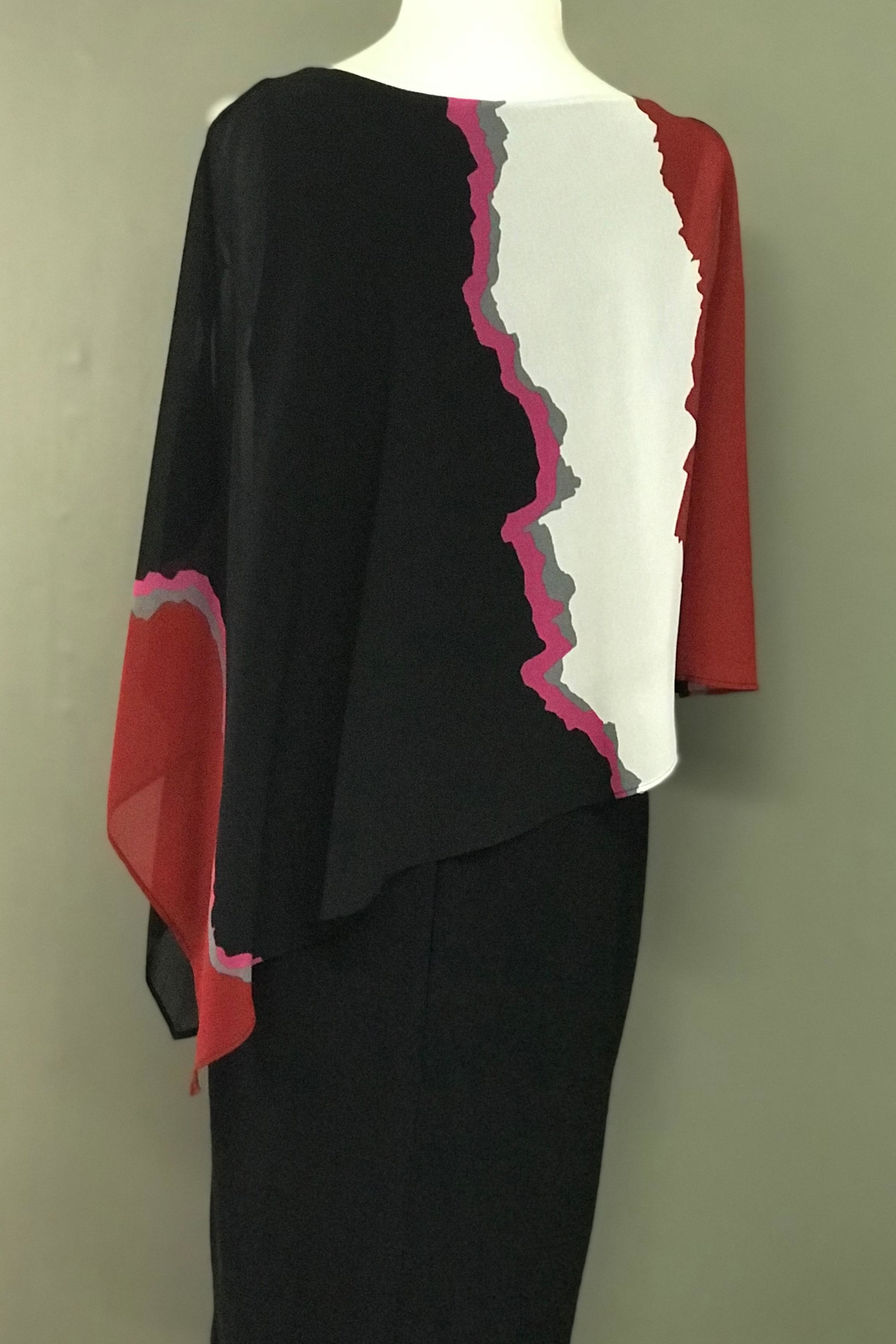 Picadilly Cascading Cape Dress - Side Cropped Image
