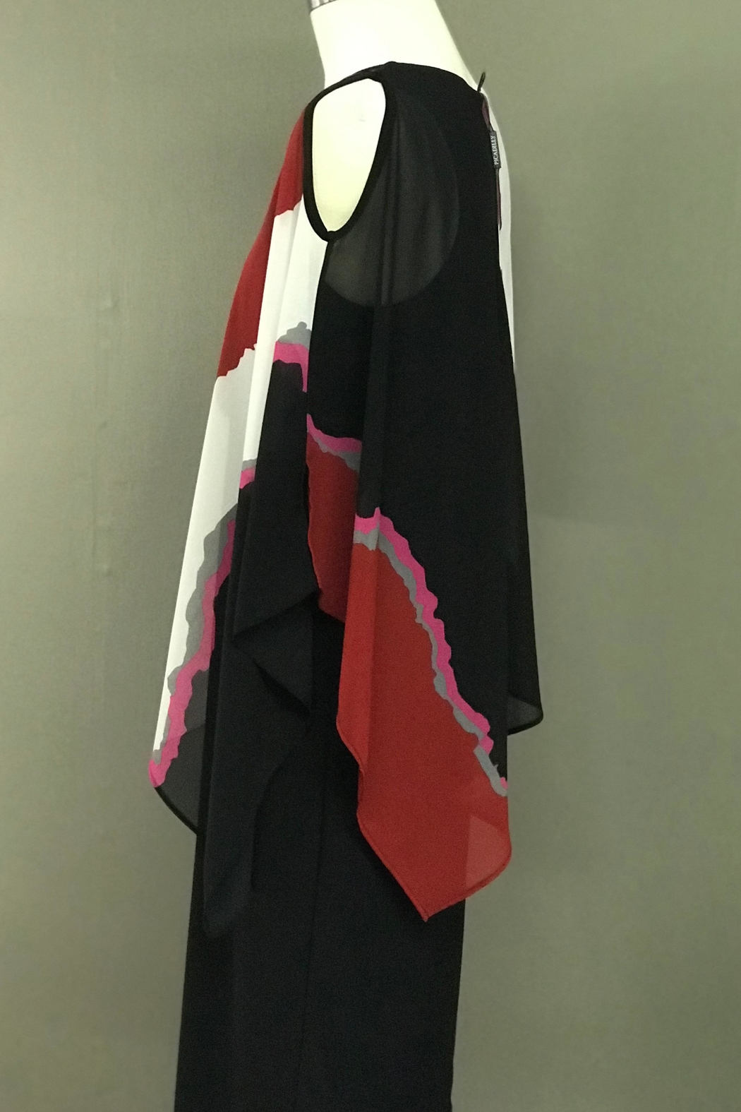 Picadilly Cascading Cape Dress - Front Full Image