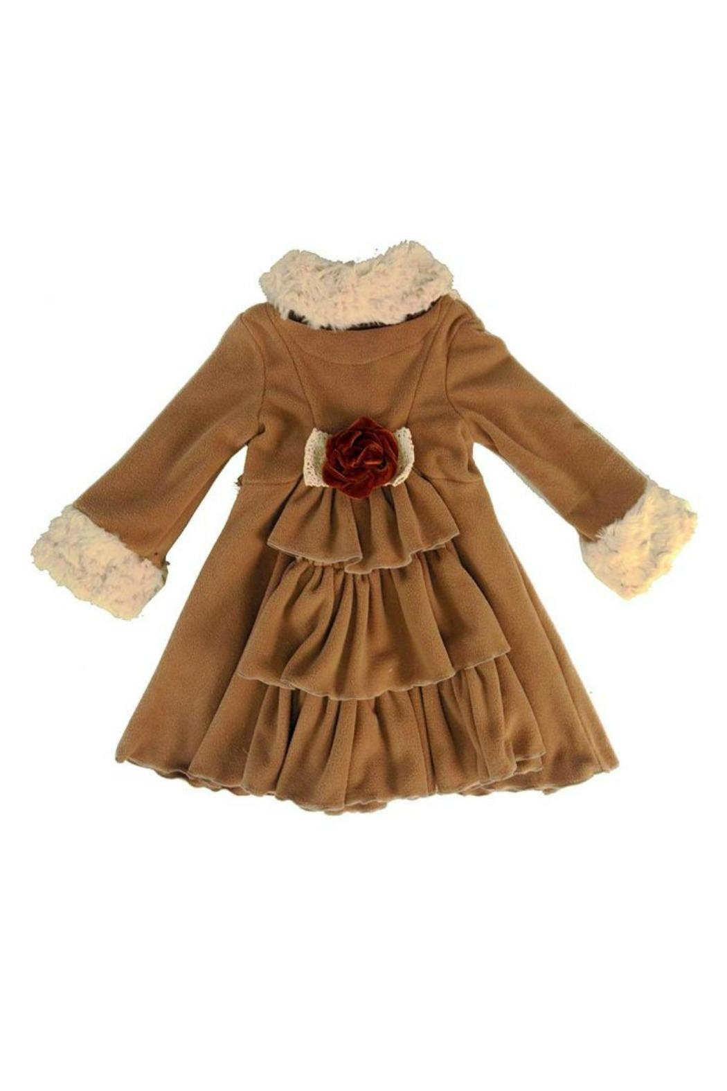 Peaches 'N Cream Cascading Ruffle Coat - Front Full Image