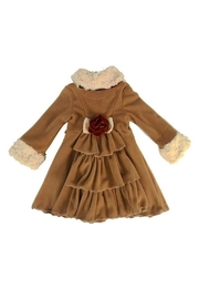 Peaches 'N Cream Cascading Ruffle Coat - Front full body