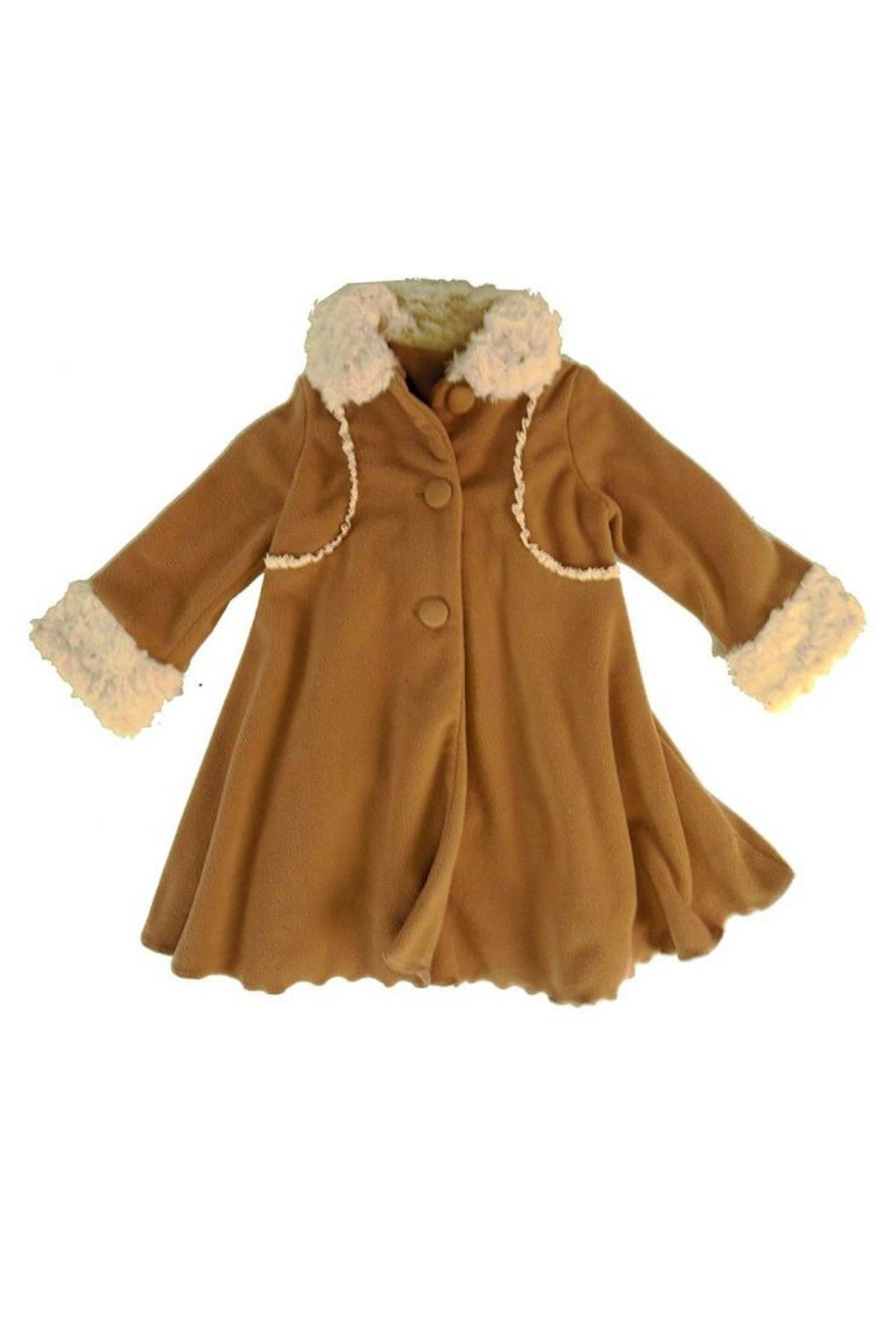 Peaches 'N Cream Cascading Ruffle Coat - Main Image