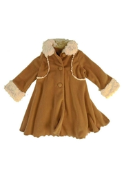 Peaches 'N Cream Cascading Ruffle Coat - Front cropped