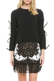 Endless Rose Cascading Ruffle Sleeve Blouse - Product Mini Image