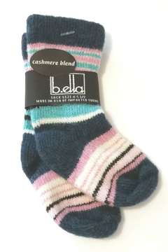 Shoptiques Product: Casey Teal Cashmere Blend Baby Sock