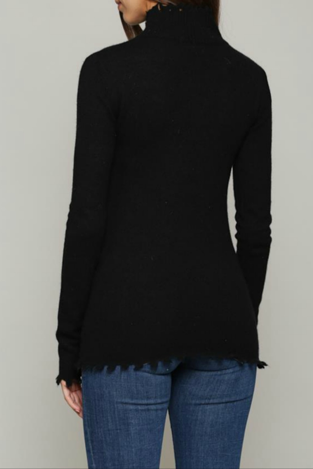 FATE by LFD Cashmere blend distressed sweater - Front Full Image