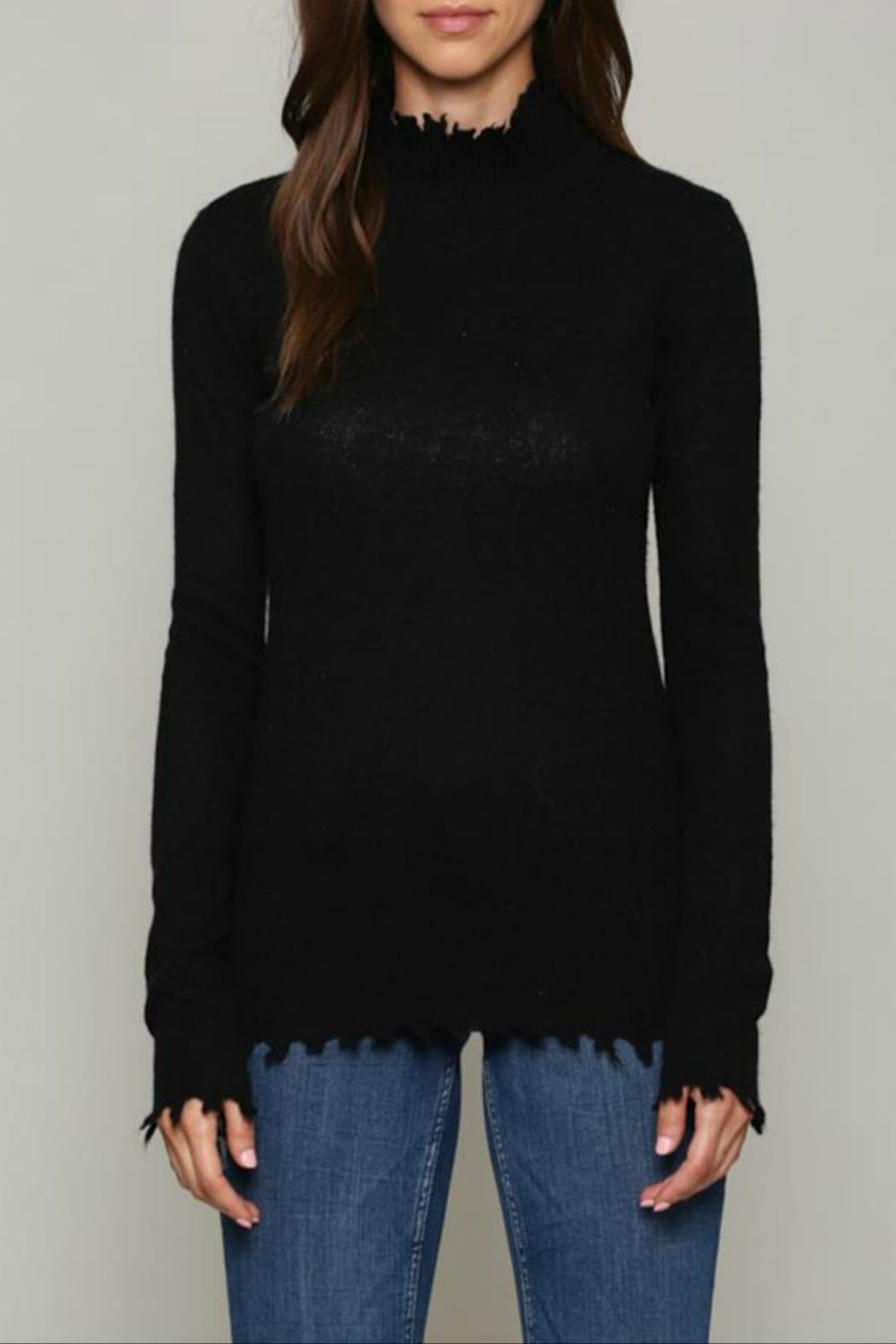 FATE by LFD Cashmere blend distressed sweater - Main Image