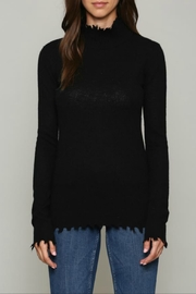 FATE by LFD Cashmere blend distressed sweater - Front cropped