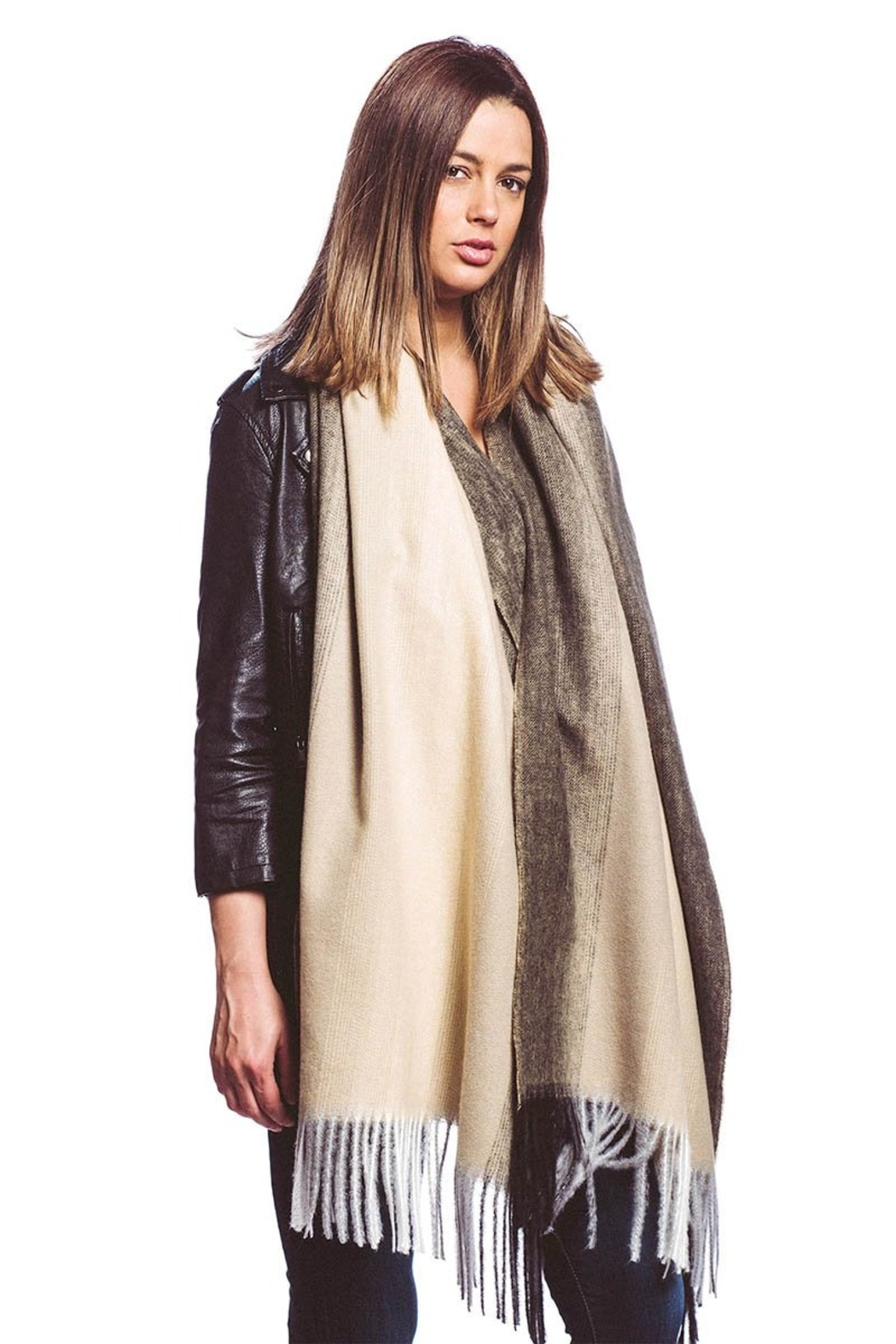 US Jewelry House Cashmere Blend Ombre Scarf w/Fringe - Main Image