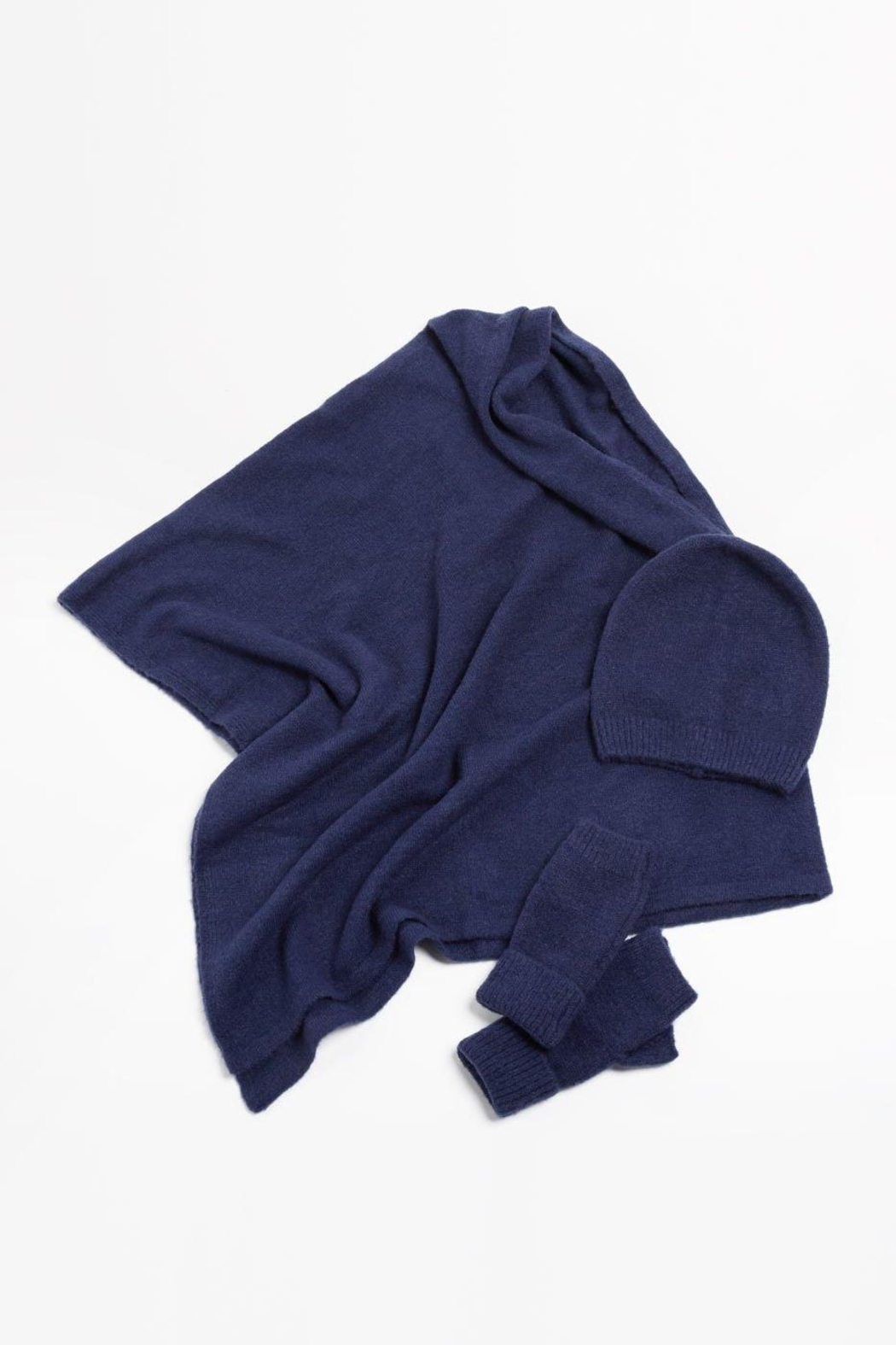 Look by M Cashmere Blend Poncho - Front Cropped Image