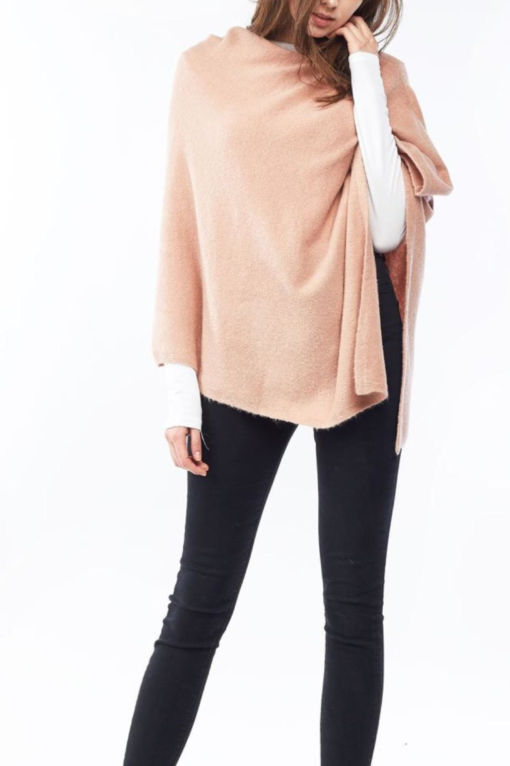 Look by M Cashmere Blend Poncho - Main Image