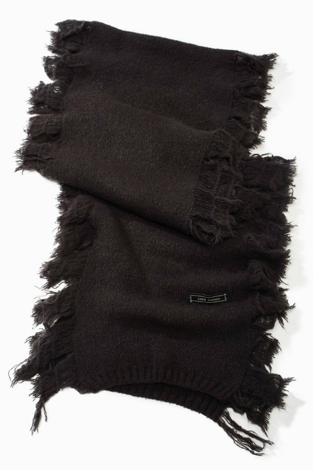 Look by M Cashmere Blended Fringe Scarf - Front Cropped Image