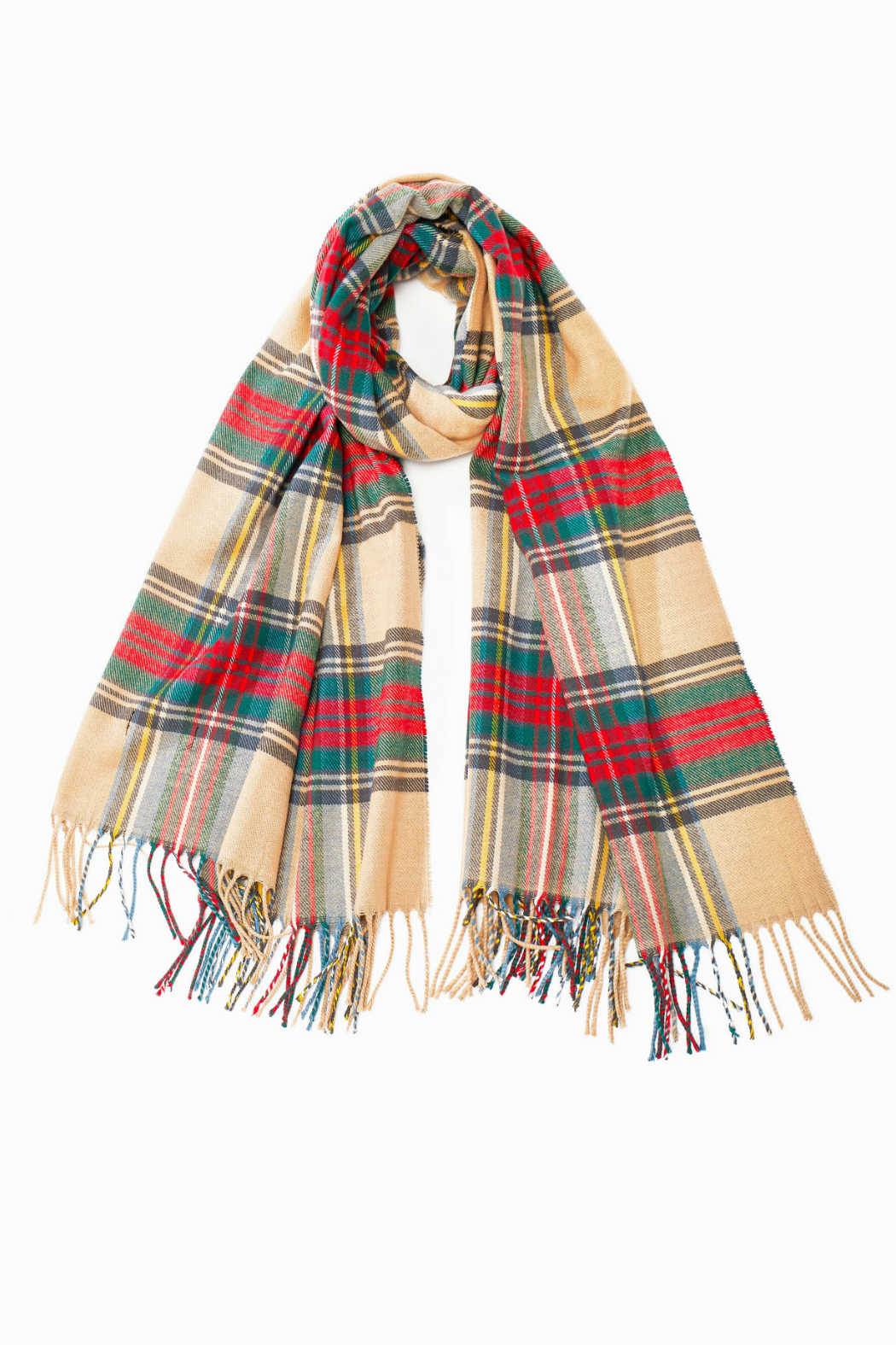 Look by M Cashmere blended plaid scarf - Front Cropped Image