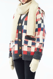 Look by M Cashmere blended rib  knit scarf - Product Mini Image