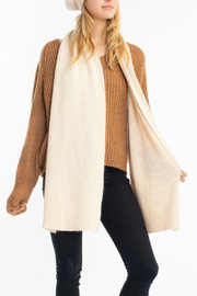Look by M Cashmere Blended Sparkle Knit Scarf - Front cropped
