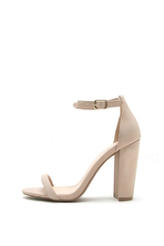 Qupid Cashmere Block Heels - Product Mini Image