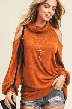 First Love Cashmere Brushed Turtleneck Top - Product List Image